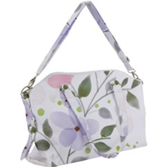 Spring Watercolour Flowers Canvas Crossbody Bag