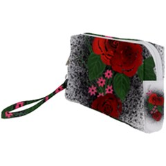 Watercolour Flowers Watercolor Roses Wristlet Pouch Bag (small)