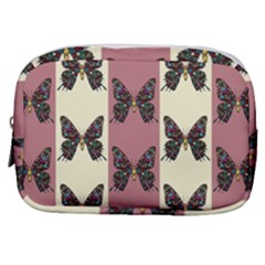 Butterflies Pink Old Old Texture Make Up Pouch (small) by Pakrebo