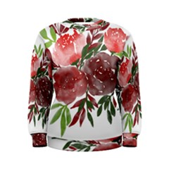 Watercolour Flowers Roses Watercolor Women s Sweatshirt by Pakrebo