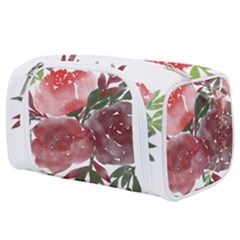 Watercolour Flowers Roses Watercolor Toiletries Pouch