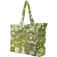 Flowers Abstract Background Simple Shoulder Bag