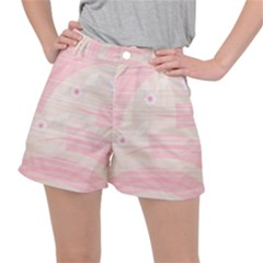 Background Non Seamless Pattern Pink Ripstop Shorts