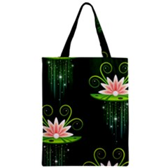 Background Non Seamless Pattern Zipper Classic Tote Bag