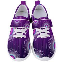 Non Seamless Pattern Background Women s Velcro Strap Shoes