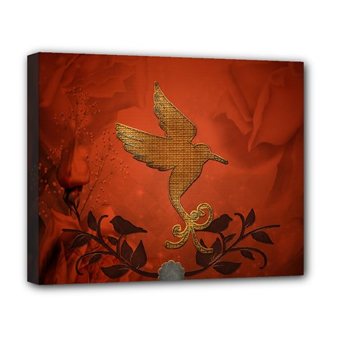 Elegant Decorative Bird Deluxe Canvas 20  X 16  (stretched) by FantasyWorld7