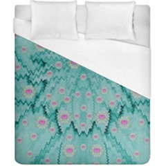 Lotus  Bloom Lagoon Of Soft Warm Clear Peaceful Water Duvet Cover (california King Size) by pepitasart