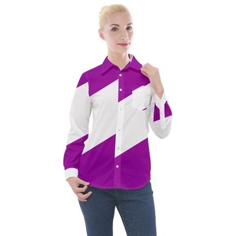 Flag Of Puerto Williams Women s Long Sleeve Pocket Shirt by abbeyz71