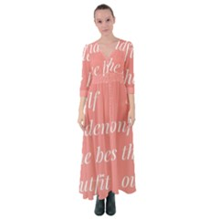 Self Confidence  Button Up Maxi Dress