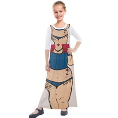 Sassy Kids  Quarter Sleeve Maxi Dress by Abigailbarryart
