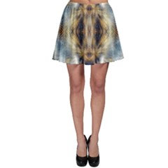 Raising Vibrations Sacred Abstract Art Skater Skirt by CrypticFragmentsDesign