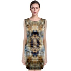 Raising Vibrations Sacred Abstract Art Sleeveless Velvet Midi Dress