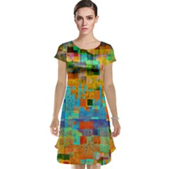 Painted Desert Southwestern Abstract Art Cap Sleeve Nightdress