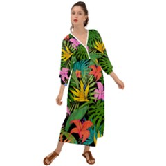 Tropical Adventure Grecian Style  Maxi Dress