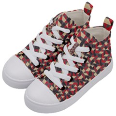 Pattern Textiles Kids  Mid-top Canvas Sneakers by HermanTelo