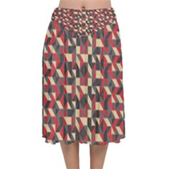 Pattern Textiles Velvet Flared Midi Skirt by HermanTelo