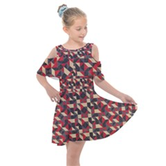 Pattern Textiles Kids  Shoulder Cutout Chiffon Dress by HermanTelo