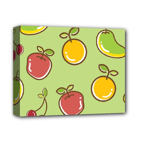 Seamless Healthy Fruit Deluxe Canvas 14  X 11  (stretched) by HermanTelo