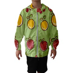 Seamless Healthy Fruit Kids  Hooded Windbreaker