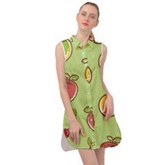 Seamless Healthy Fruit Sleeveless Shirt Dress by HermanTelo