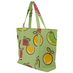 Seamless Healthy Fruit Zip Up Canvas Bag