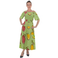 Seamless Healthy Fruit Shoulder Straps Boho Maxi Dress  by HermanTelo