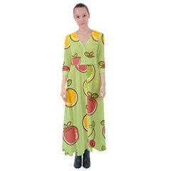 Seamless Healthy Fruit Button Up Maxi Dress