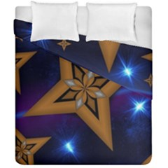 Star Background Duvet Cover Double Side (california King Size) by HermanTelo