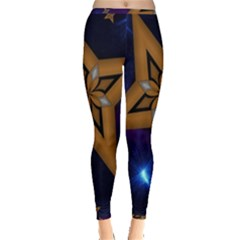 Star Background Inside Out Leggings by HermanTelo