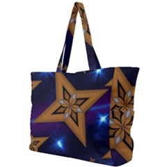 Star Background Simple Shoulder Bag