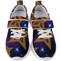 Star Background Kids  Velcro Strap Shoes
