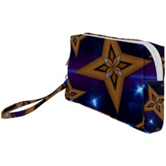 Star Background Wristlet Pouch Bag (small)