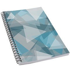 Triangle Blue Pattern 5 5  X 8 5  Notebook