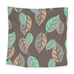 Leaf Brown Square Tapestry (large)