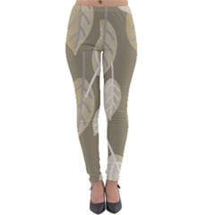 Leaf Grey Lightweight Velour Leggings by AnjaniArt