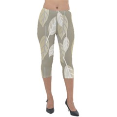 Leaf Grey Lightweight Velour Capri Leggings