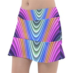 Wave Line Waveform Sound Blue Tennis Skirt