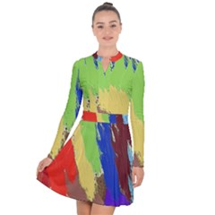 Abstract Painting Long Sleeve Panel Dress by Alisyart