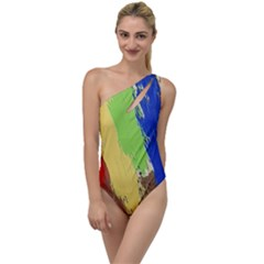 Abstract Painting To One Side Swimsuit by Alisyart