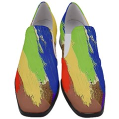 Abstract Painting Women Slip On Heel Loafers