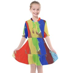 Abstract Painting Kids  All Frills Chiffon Dress