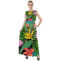 Tropical Adventure Chiffon Mesh Boho Maxi Dress