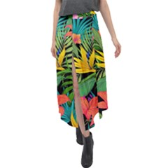 Tropical Adventure Velour Split Maxi Skirt