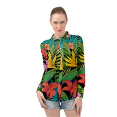 Tropical Adventure Long Sleeve Chiffon Shirt