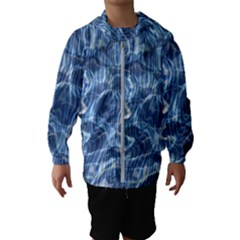 Abstract Blue Diving Fresh Kids  Hooded Windbreaker