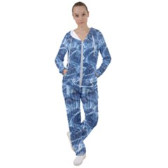 Abstract Blue Diving Fresh Women s Tracksuit by HermanTelo