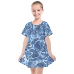 Abstract Blue Diving Fresh Kids  Smock Dress by HermanTelo