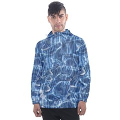 Abstract Blue Diving Fresh Men s Front Pocket Pullover Windbreaker by HermanTelo