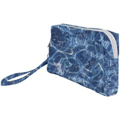 Abstract Blue Diving Fresh Wristlet Pouch Bag (small)