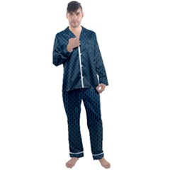 Background Holes Texture Men s Satin Pajamas Long Pants Set